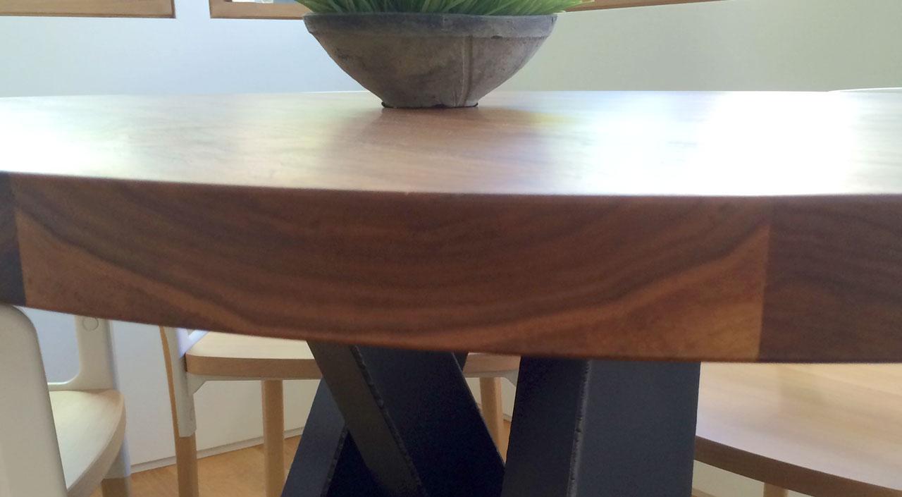 Aspen home custom kitchen table villareal rasmussen cabinetmakersvillareal rasmussen - Custom kitchen table ...