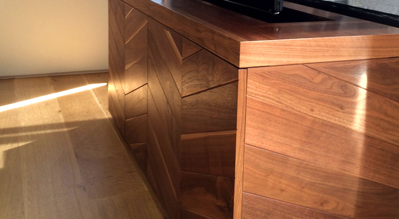 Aspen Home Hideaway TV Stand and Media Cabinet Villareal